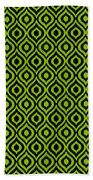 Circle And Oval Ikat In Black T09-p0100 Beach Towel