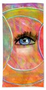 Circle Of Eyes Beach Towel