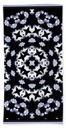 Circle Of Stars And Flowers Beach Towel