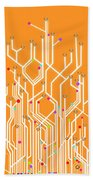 Circuit Board Graphic Beach Towel by Setsiri Silapasuwanchai