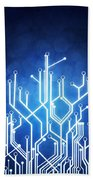 Circuit Board Technology Beach Towel