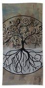 Circular Tree Of Life  Beach Towel