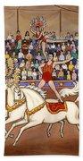 Circus Bareback Riders Beach Towel
