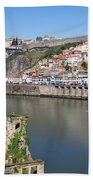 Cities Of Porto And Gaia In Portugal Beach Towel