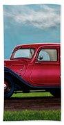 Citroen Traction Avant 1934 Painting Beach Sheet