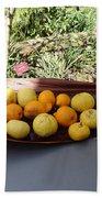 Citrus Fruits Beach Towel