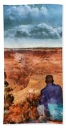 City - Arizona - Grand Canyon - The Vista Beach Towel