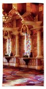 City - Vegas - Excalibur - In The Great Hall  Beach Towel