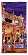 City - Vegas - Mirage - The Entrance Beach Towel