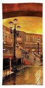 City - Vegas - Venetian - The Streets Of Venice Beach Towel