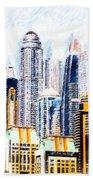 City Abstract Beach Towel