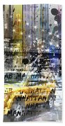 City-art Nyc Collage Beach Towel