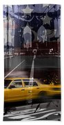 City-art Nyc Composing Beach Towel