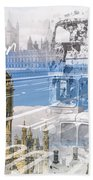 City Art Westminster Collage Beach Towel