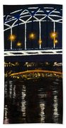 City At Night Beach Towel