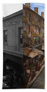 City - Baltimore Md - Traffic On Light Street - 1906 - Side By Side Beach Towel