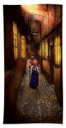 City - Germany - Alley - A Long Hard Life 1904 Beach Towel