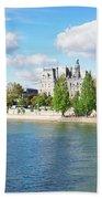 Seine River Embankment Beach Towel