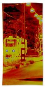 City In Red Beach Towel