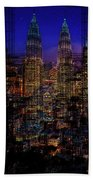 City Lights Beach Towel