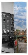 City - New York Ny - Fraunce's Tavern 1890 - Side By Side Beach Towel