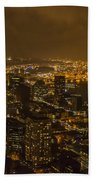 City Night Beach Towel