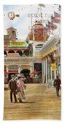 City - Ny - The Great Steeplechase 1903 Beach Towel
