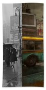 City - Ny - Times Square On A Rainy Day 1943 Side By Side Beach Towel