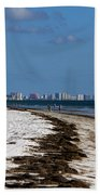 City Of Clearwater Skyline Beach Towel