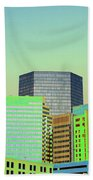 City Of Colors Beach Towel by Karol Livote