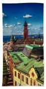 City Of Helsingborg Beach Towel