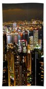 City Of Lights Beach Towel