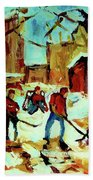 City Of Montreal Hockey Our National Pastime Beach Towel