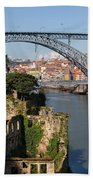 City Of Porto In Portugal Picturesque Scenery Beach Towel