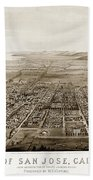 City Of San Jose County Of Santa Clara 1875 Beach Towel