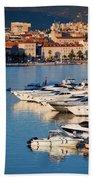 City Of Split In Croatia Beach Towel