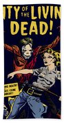 City Of The Living Dead Comic Book Poster Beach Towel