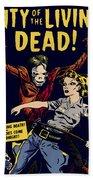 City Of The Living Dead Comic Book Poster Beach Sheet