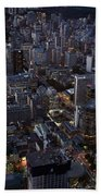 City Of Toronto Downtown After Sunset Beach Towel