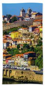 City On A Hillside Beach Towel