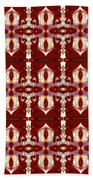 City Red Beach Towel