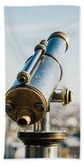 City Telescope Beach Towel
