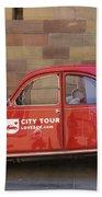 City Tour Car Strasbourg France Beach Towel