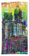 Cityscape Art City Optimist Beach Sheet