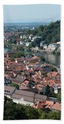 Cityscape  Of Heidelberg In Germany Beach Towel