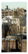 Cityscape Queens Beach Towel