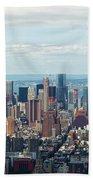 Cityscape View Of Manhattan, New York City. Beach Towel