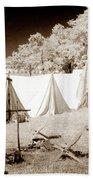 Civil War Encampment - Infrared Beach Towel