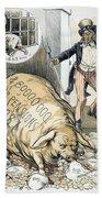 Civil War Pensions, 1888 Beach Towel
