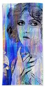 Clara Bow I'll See You In New York Beach Towel